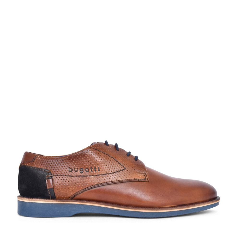 MEN'S 64702 CASUAL LACED OXFORD SHOE in TAN