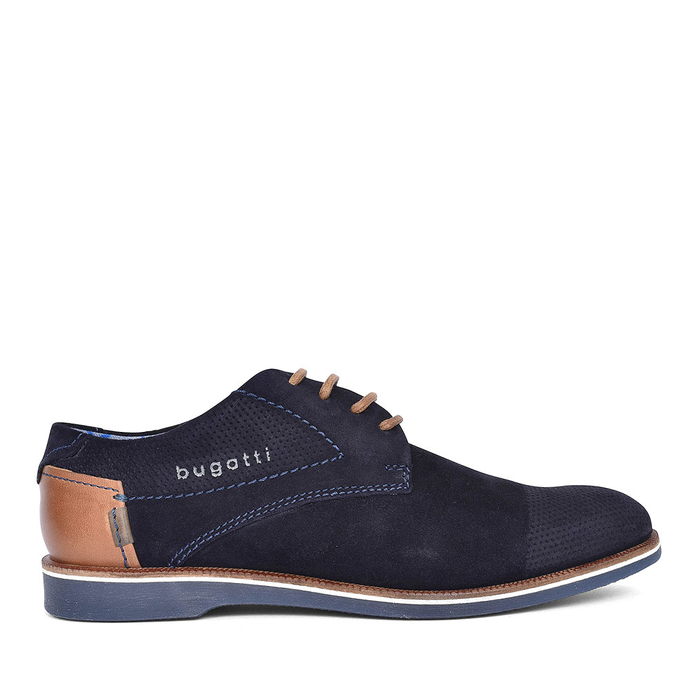 MEN'S 64702 CASUAL SUEDE LACED OXFORD SHOE in NAVY