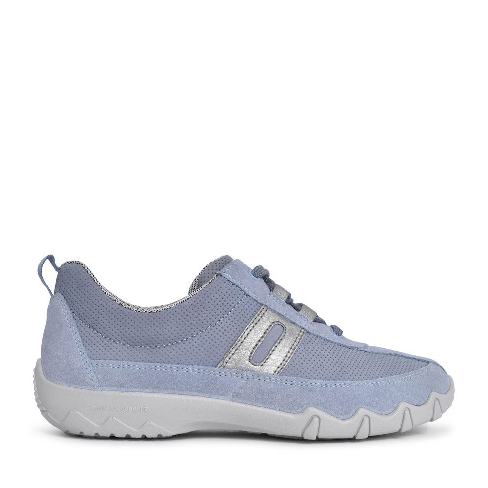 LADIES LEANNE STD. FIT LACED TRAINER in BLUE