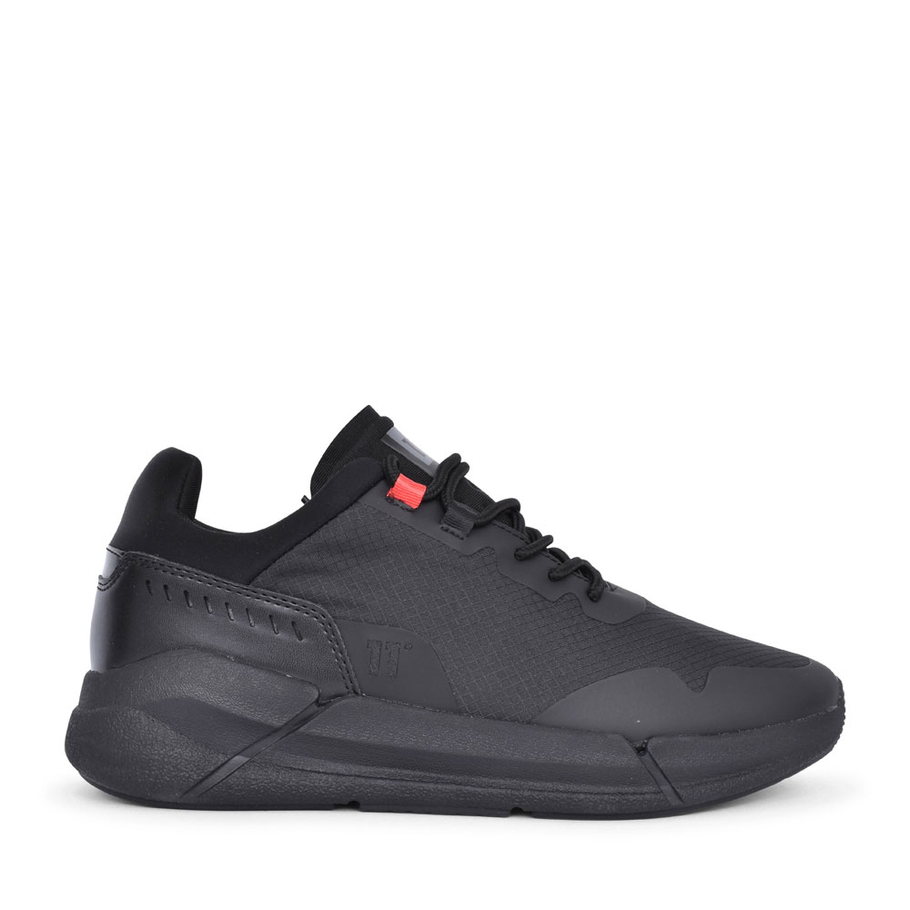 MENS DEL RAY LACED TRAINER in BLACK