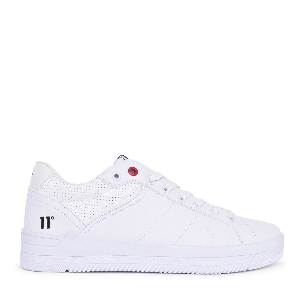MENS VENICE LACED TRAINER in WHITE