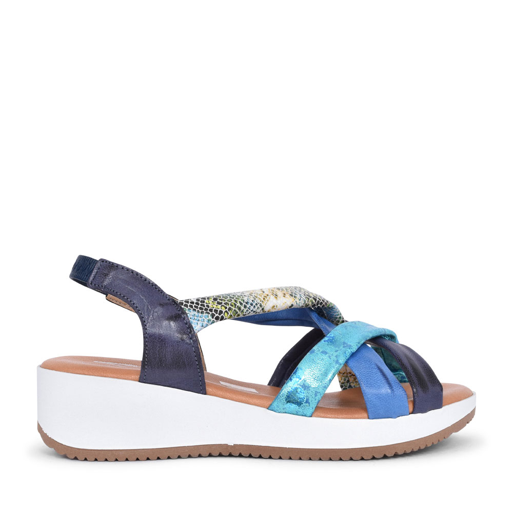 LADIES 1302H CASUAL MULTI STRAP SANDAL in BLUE