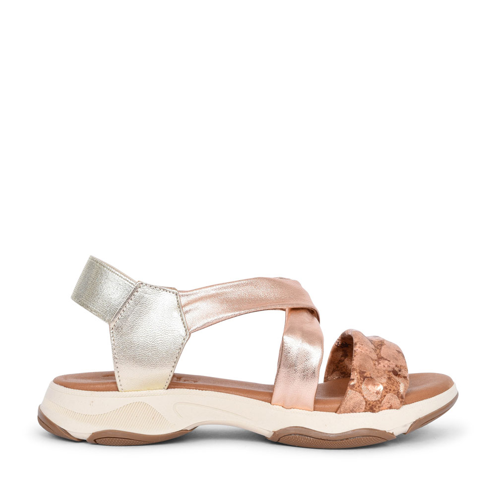 LADIES 1301A CASUAL MULTI STRAP SANDAL in ROSE