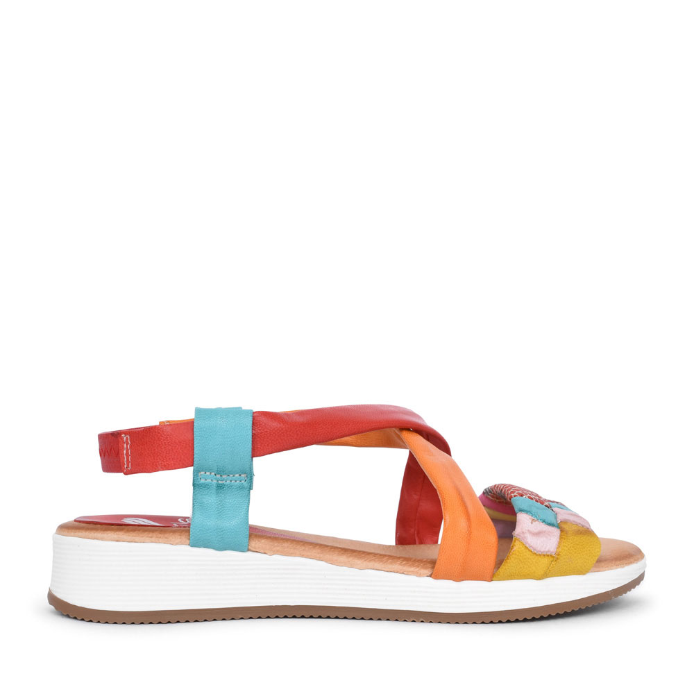LADIES 1037 CASUAL MULTI STRAP SANDAL in MULTI-COLOUR