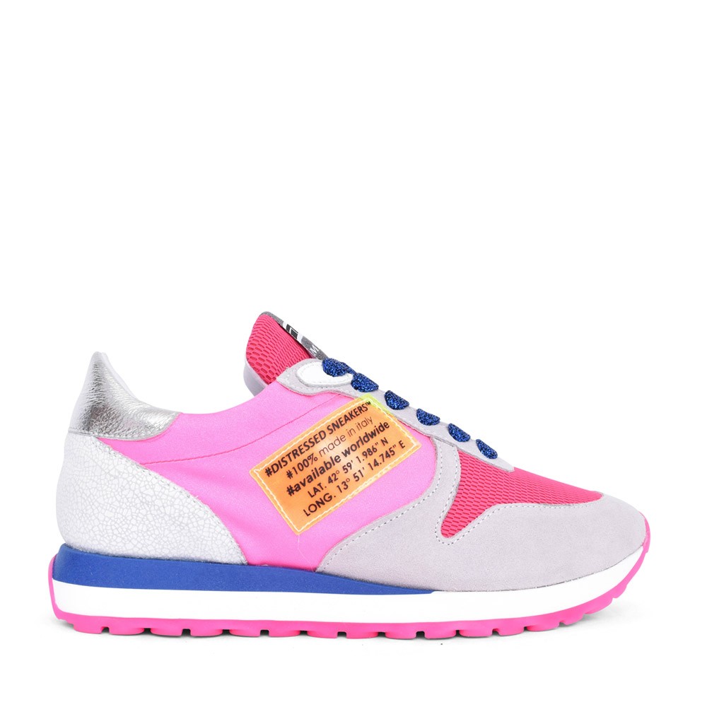 LADIES 6001 CASUAL LACED TRAINER in MULTI-COLOUR