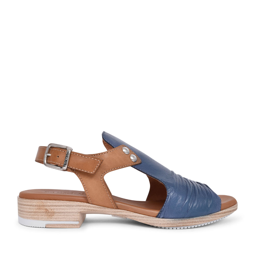 LADIES 9-17 CASUAL HIGH FRONT SANDAL in NAVY