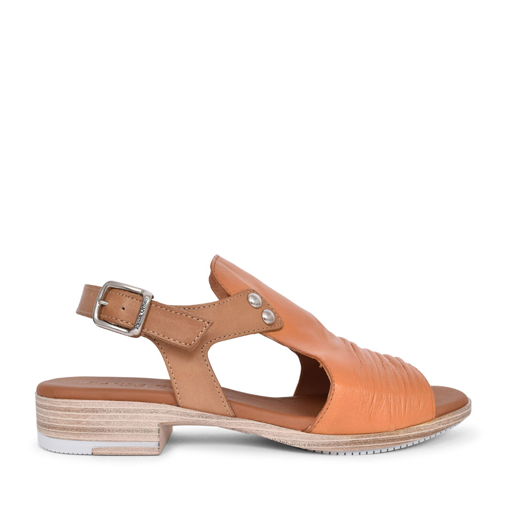 LADIES 9-17 CASUAL HIGH FRONT SANDAL in TAN