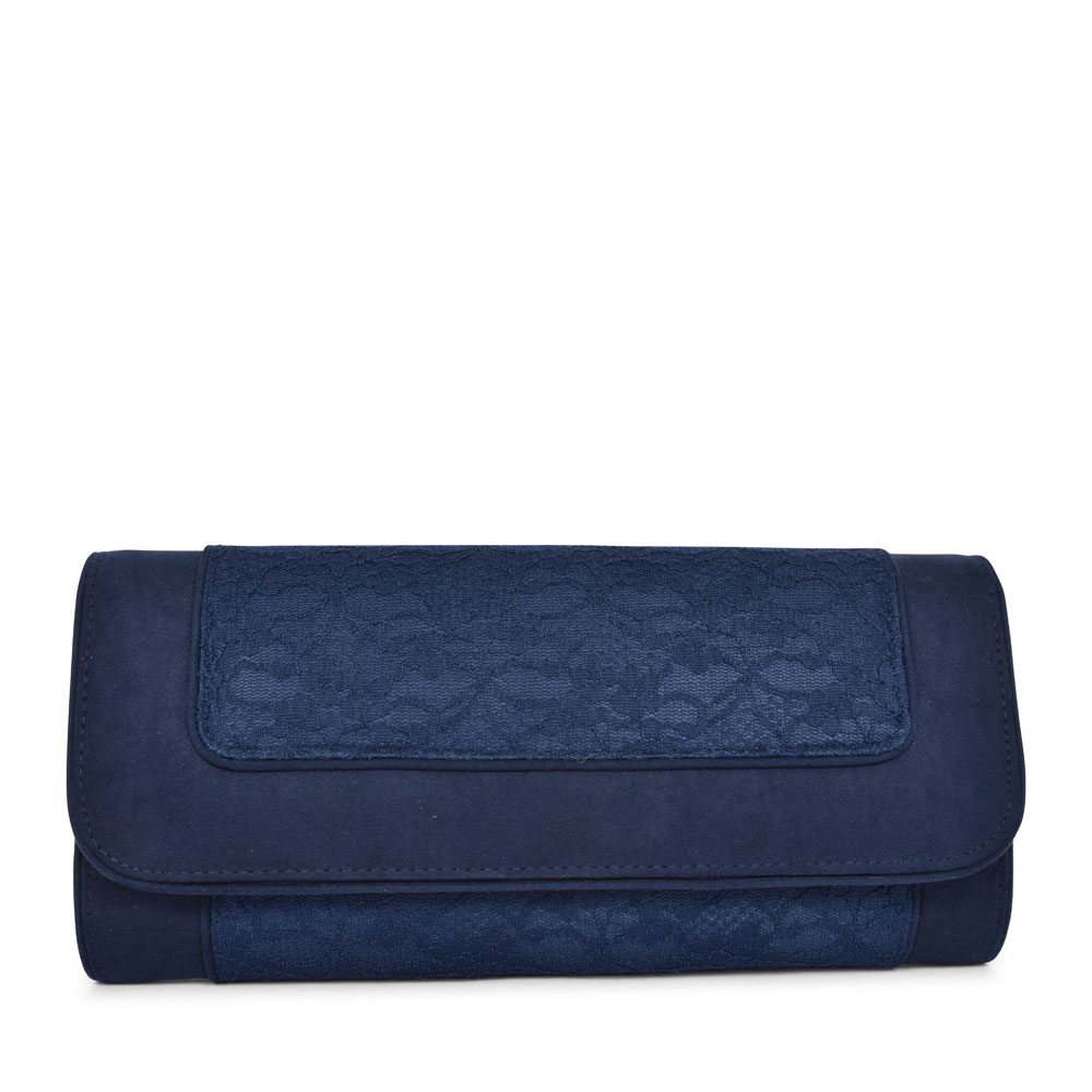 LADIES TIRANA LACE CLUTCH BAG in NAVY