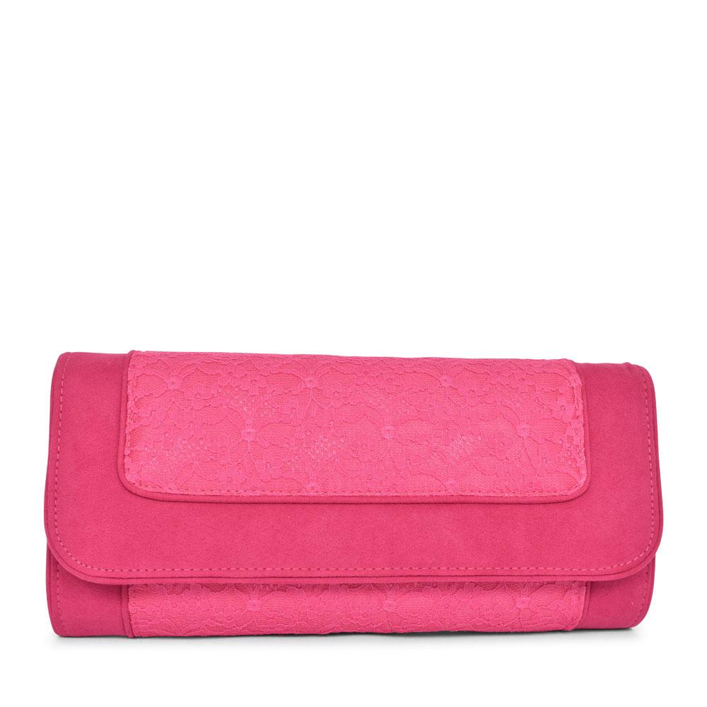 LADIES TIRANA LACE CLUTCH BAG in PINK