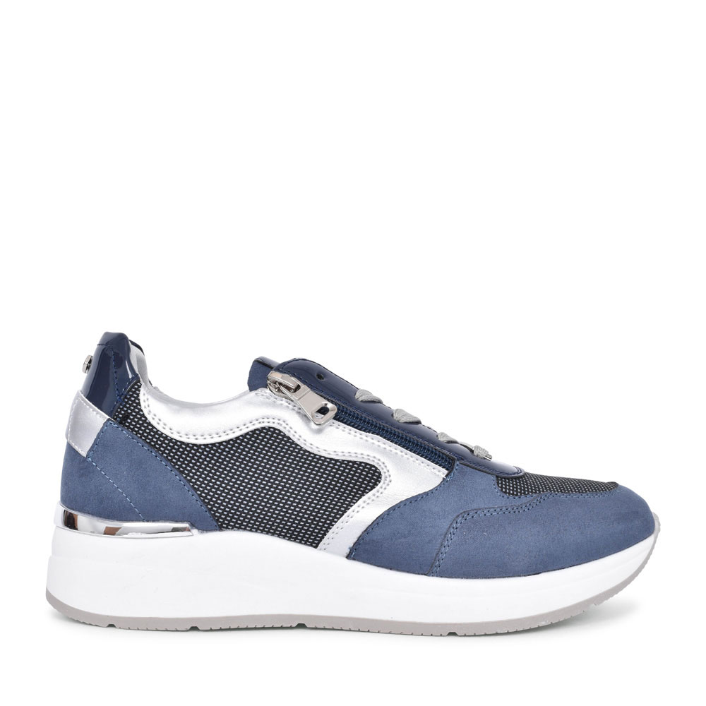 LADIES DOWLING CASUAL LACED TRAINER  in BLUE