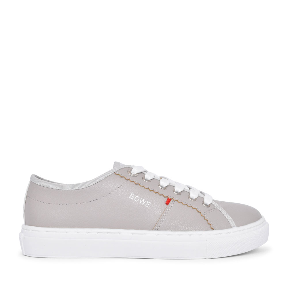 LADIES DELANY CASUAL LACED TRAINER  in GREY