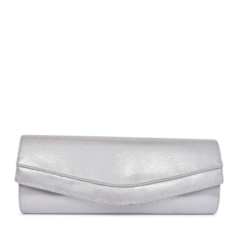 LADIES BL0002 CLUTCH BAG in SILVER