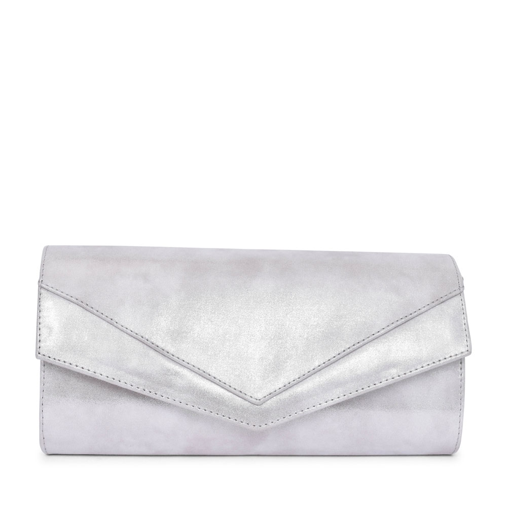 LADIES BL0001 CLUTCH BAG in SILVER
