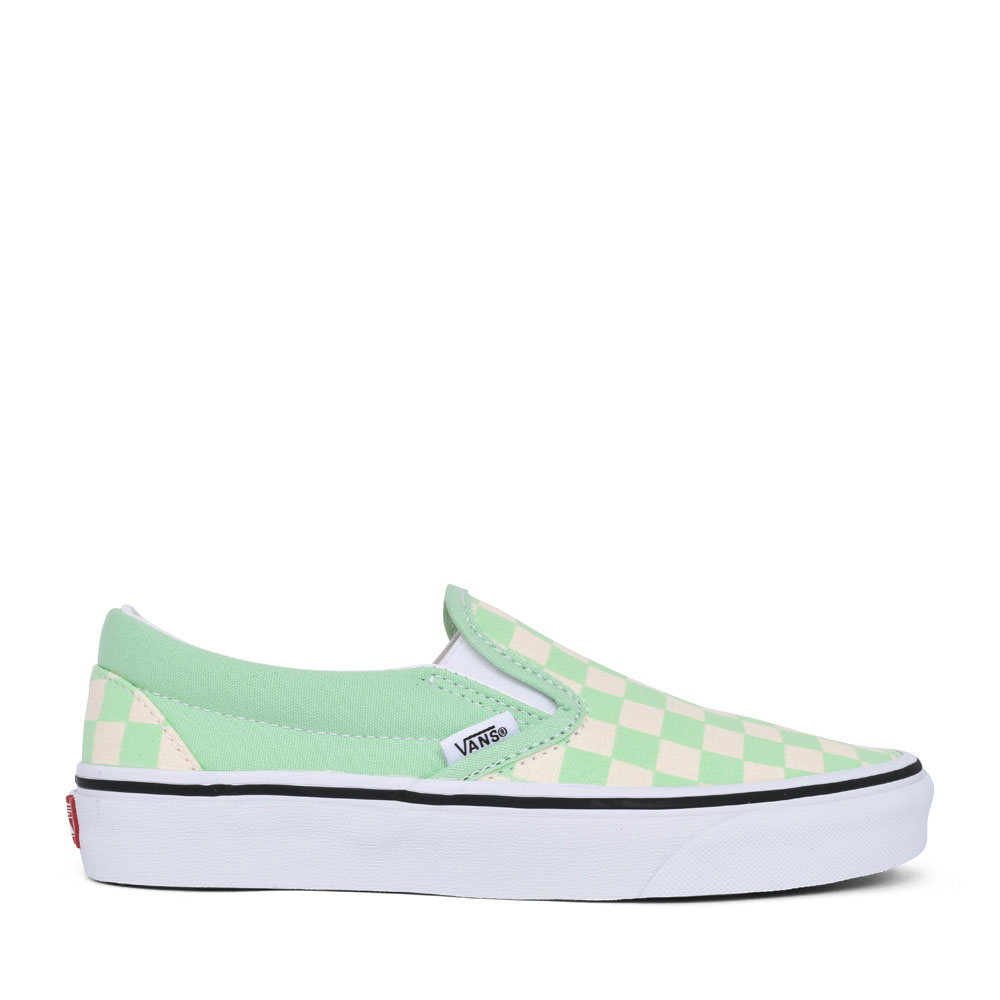 LADIES CLASSIC CASUAL CHECKERBOARD SLIP ON SHOE in GREEN