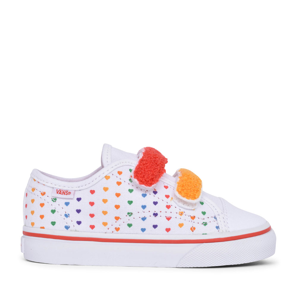 GIRLS STYLE 23 RAINBOW HEARTS DOUBLE VELCRO TRAINER in MULTI-COLOUR