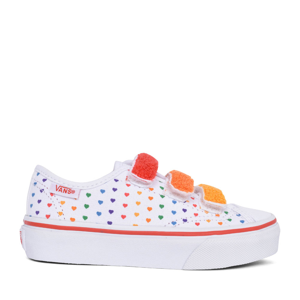 GIRLS STYLE 23 RAINBOW HEART TRIPLE VELCRO TRAINER in MULTI-COLOUR