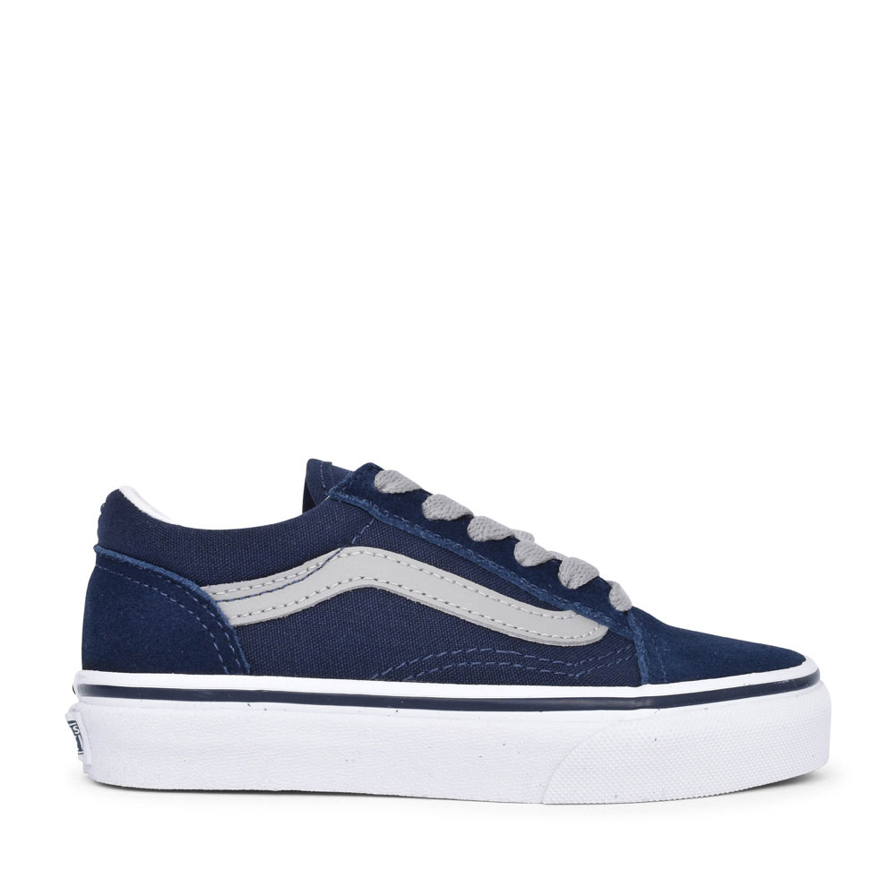 BOYS OLD SKOOL CASUAL LACED TRAINER in NAVY
