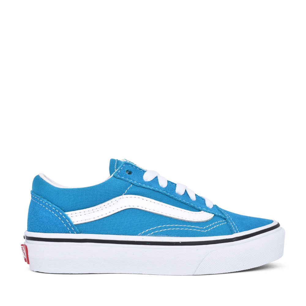 BOYS OLD SKOOL CASUAL LACED TRAINER in BLUE
