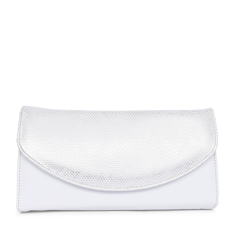LADIES 1862050 MARTINA CLUTCH BAG in WHITE
