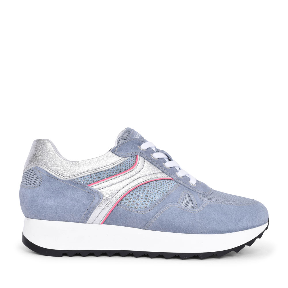 LADIES CASUAL LACED TRAINER in BLUE