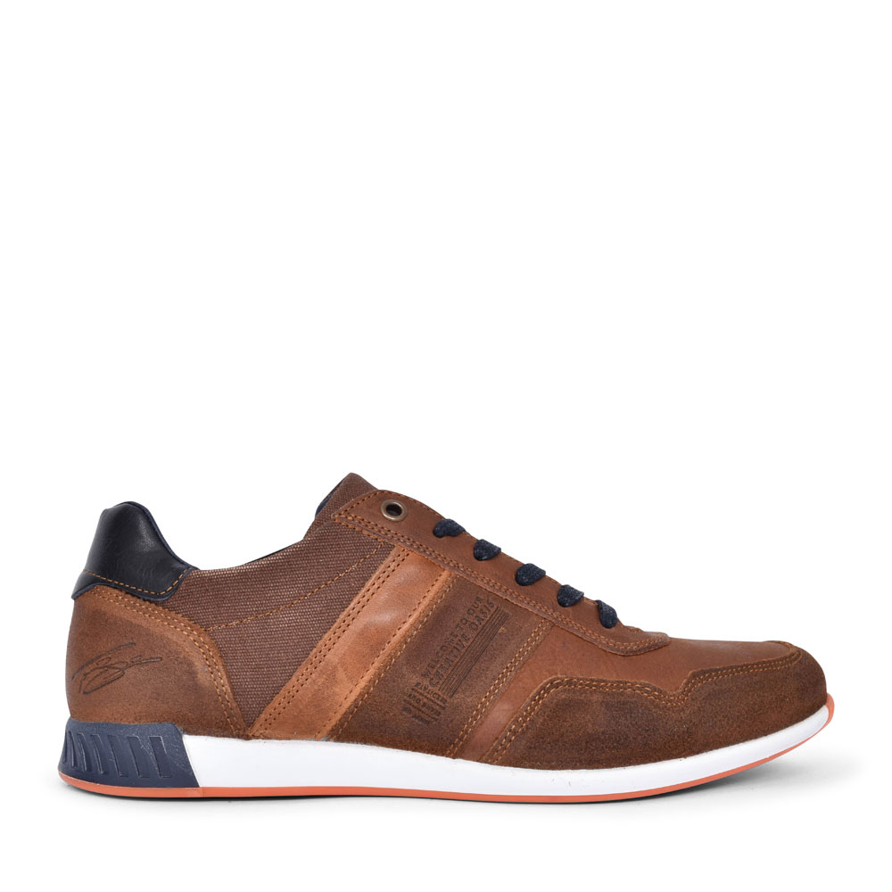 MEN'S SMITH CASUAL LACED TRAINER  in TAN