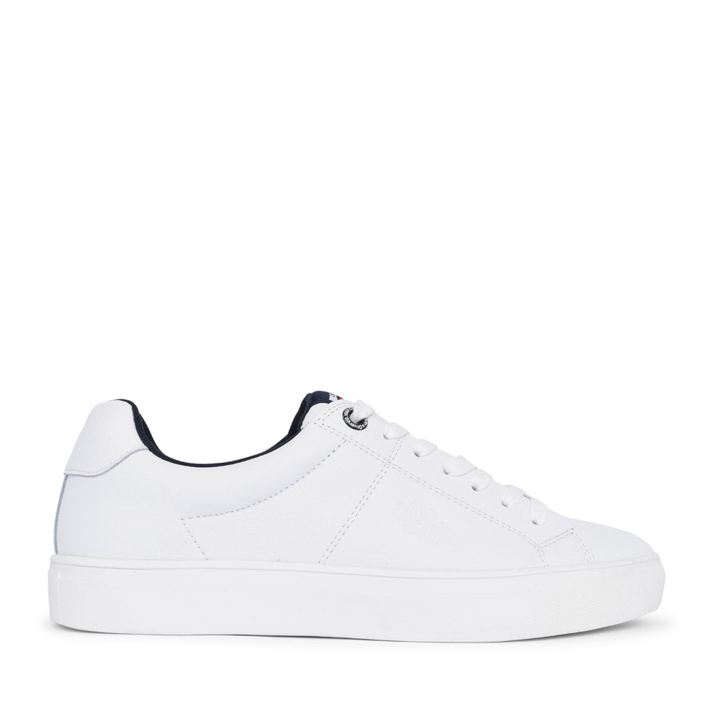 MEN'S 5-13632 LACED TRAINER  in WHITE