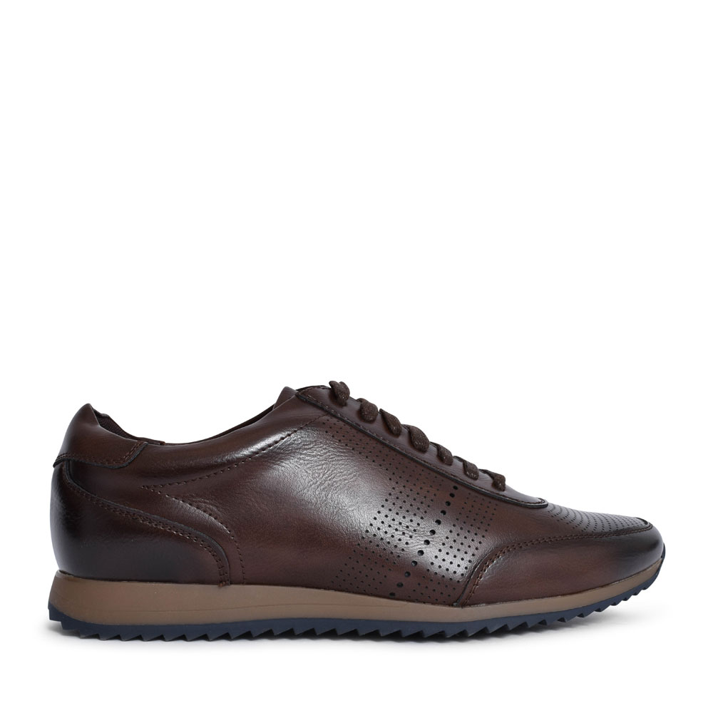 MEN'S WARSAW LACED TRAINER in BROWN