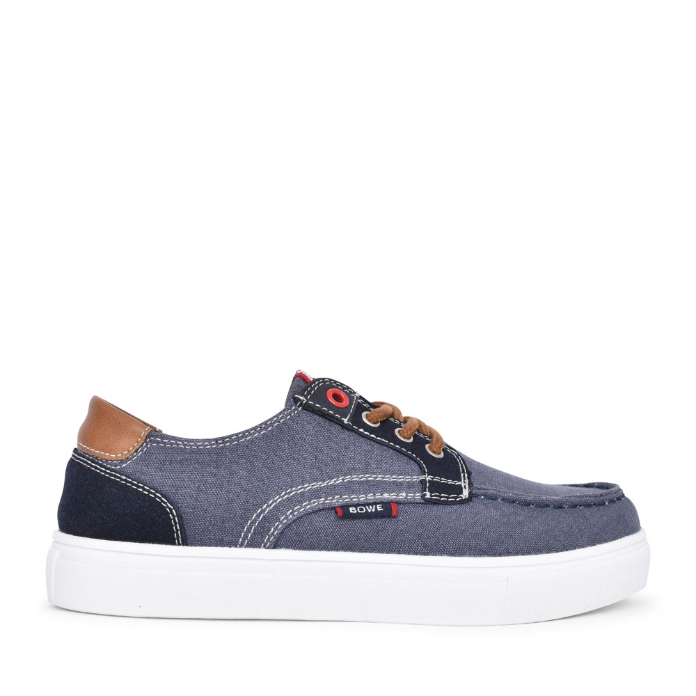BOYS PORTER LACED CANVAS SHOE in DENIM