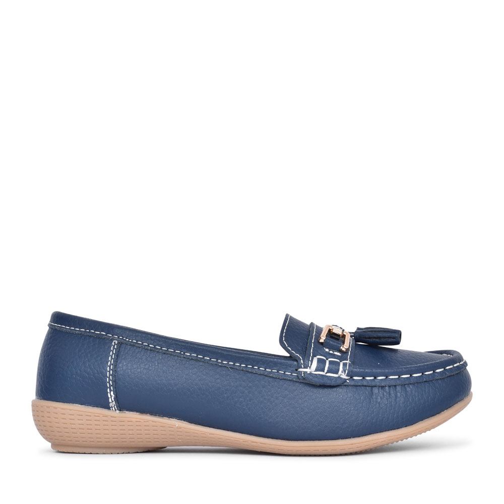 LADIES NAUTICAL Tassel LOAFER in NAVY