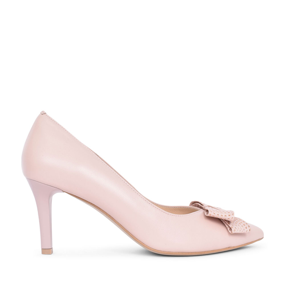 LADIES 7686 BOW COURT SHOE in NUDE