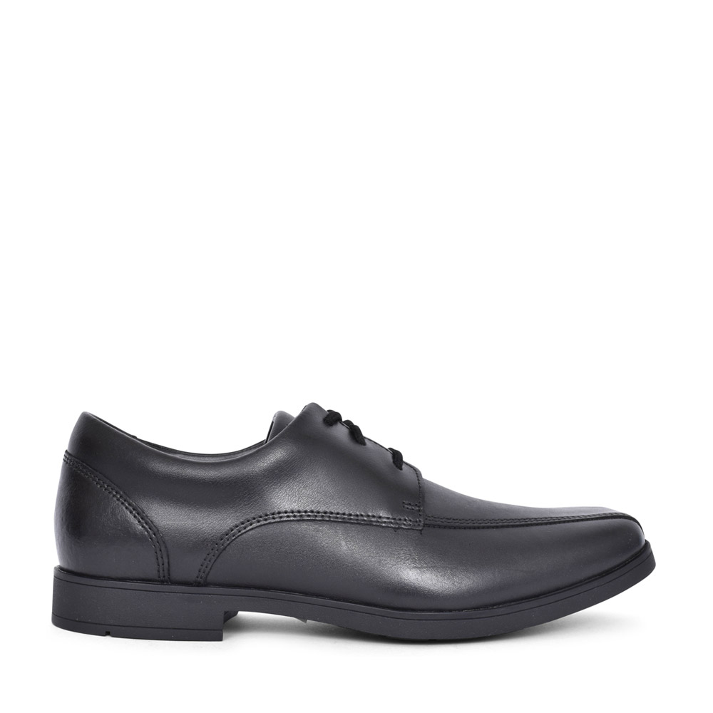 BOYS SCALA STEP BLACK LEATHER LACED SHOE in KIDS G FIT