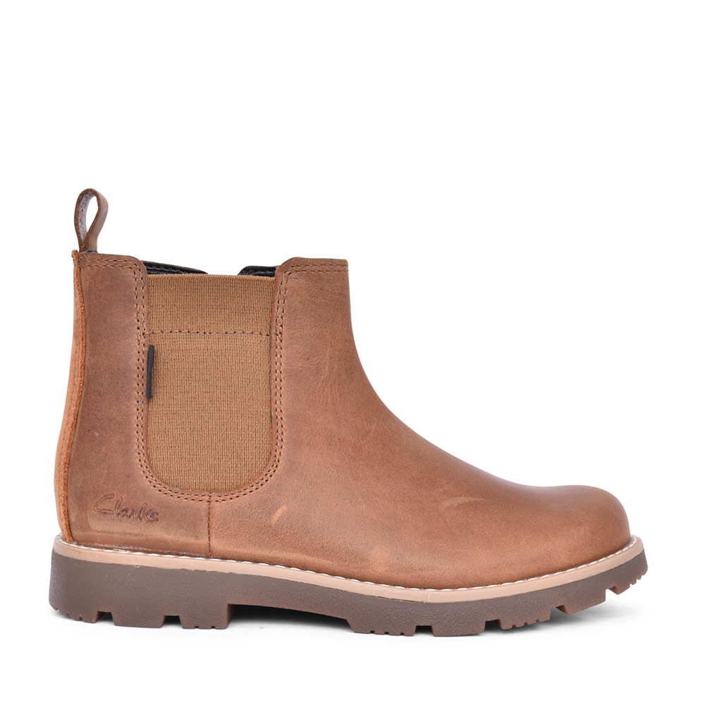 BOYS HEATHSEAGTX TAN LEATHER ANKLE BOOT in KIDS G FIT