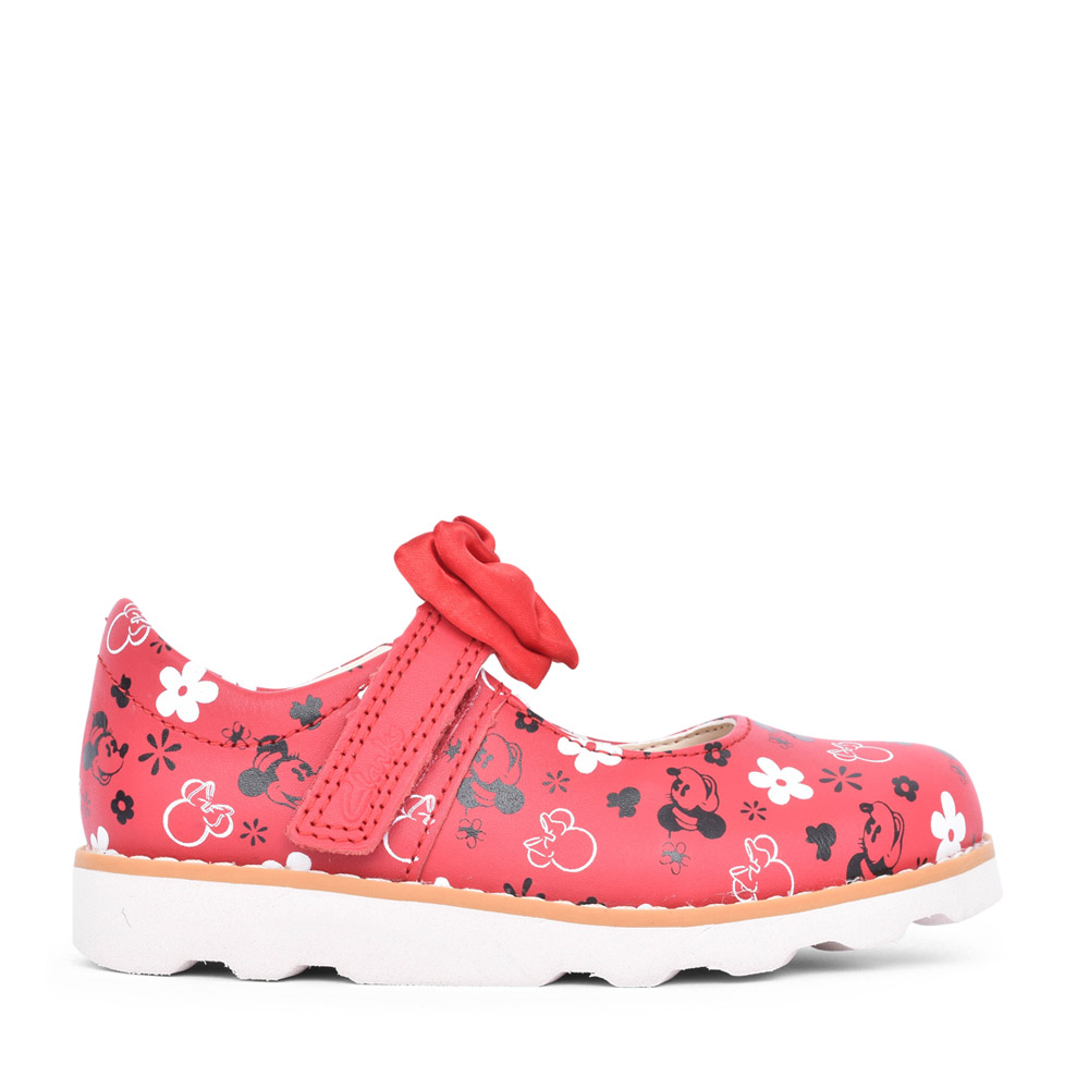 GIRLS CROWN BOW RED LEATHER MARY JANE SHOE in KIDS F FIT