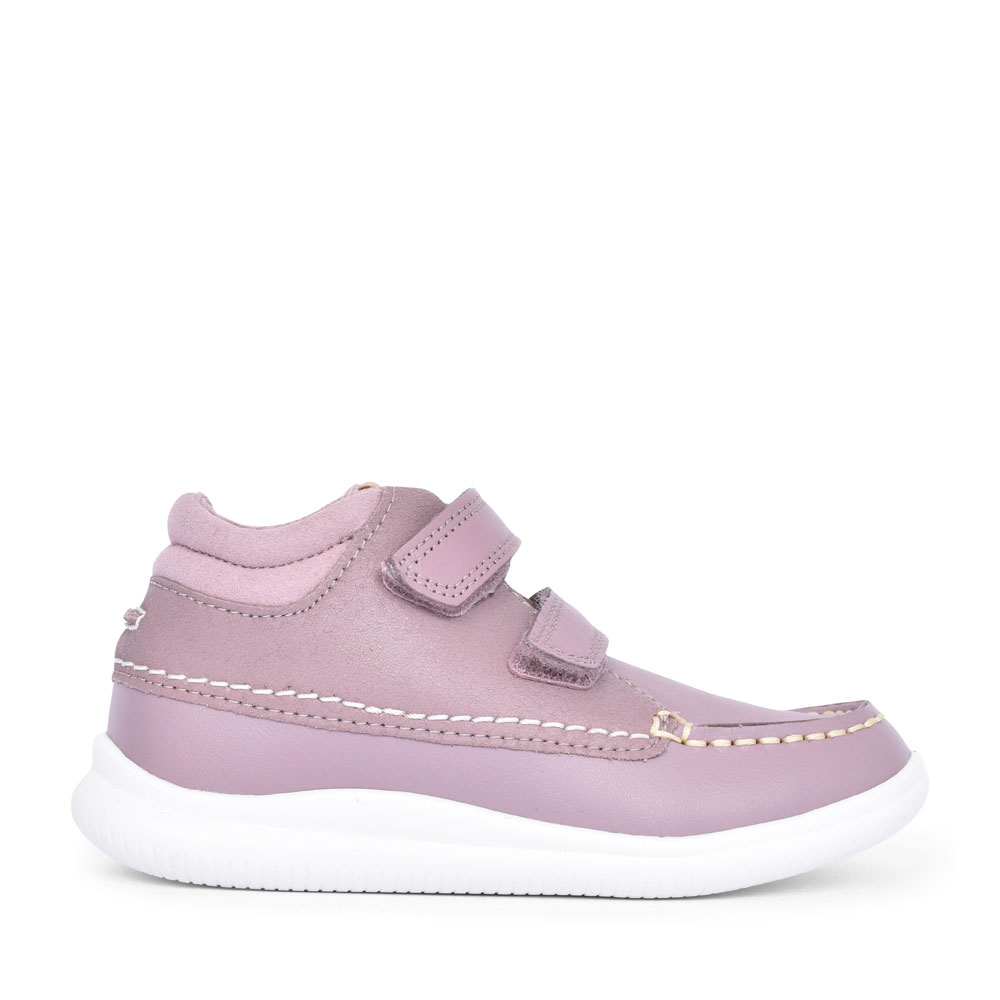 GIRLS CREST TUKTU PINK COMBI LEATHER SHOE in KIDS G FIT