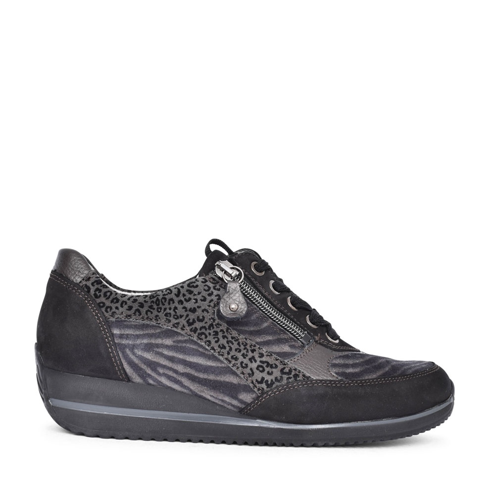 LADIES 980008 HIMONA H FIT LACED TRAINER in BLACK