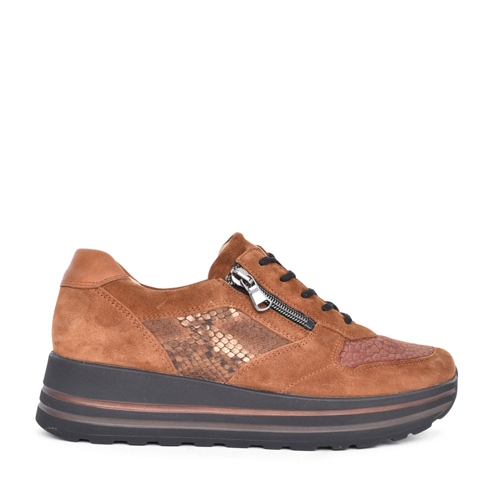 LADIES 758H02 H-LANA LACED TRAINER in TAN