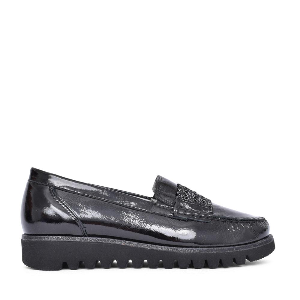 LADIES 926515 HABEA H-FIT SLIP ON SHOE in BLACK