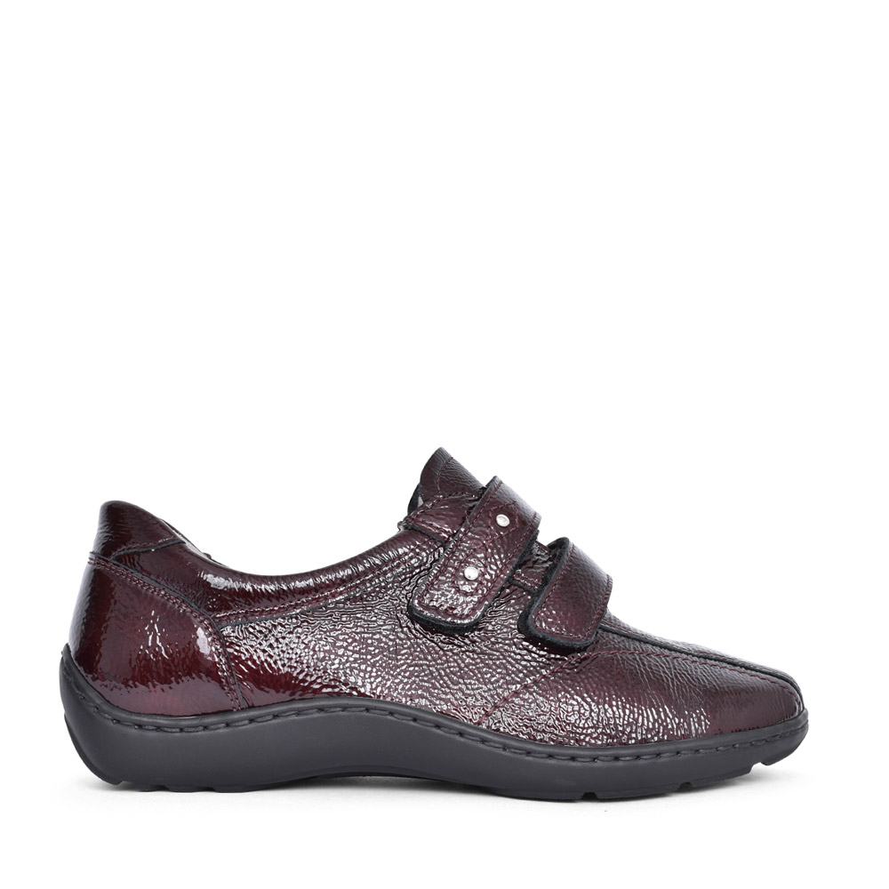 LADIES 496301 HENNI VELCRO SHOES in BURGANDY