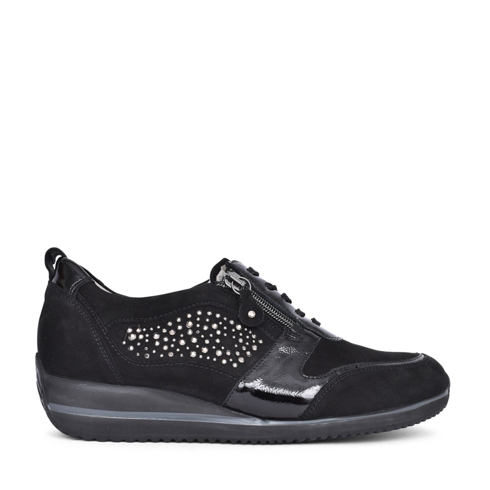 LADIES 980006 HIMONA H FIT LACED TRAINER in BLACK
