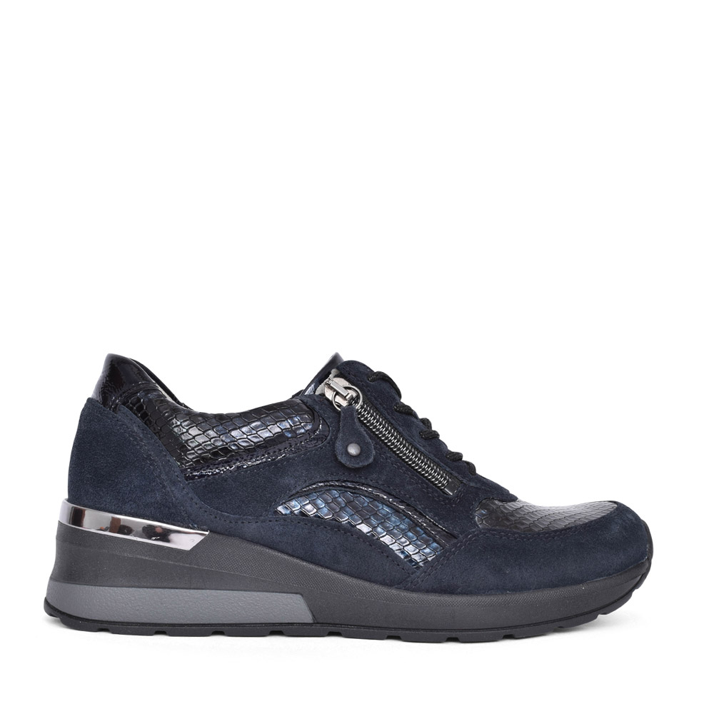 LADIES 939011 H-CLARA LACE TRAINER in NAVY