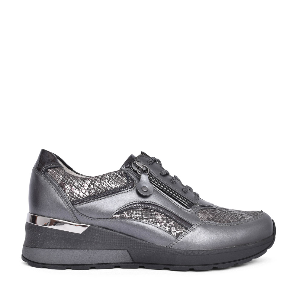 LADIES 939011 H-CLARA LACE TRAINER in GREY