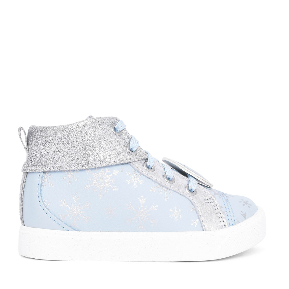 GIRLS CITY ICE LIGHT BLUE LEATHER LACED BOOT in KIDS G FIT