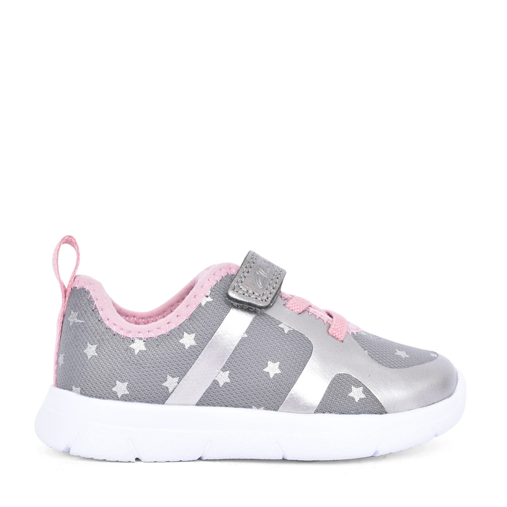 GIRLS ATH FLUX PEWTER TEXTILE VELCRO TRAINER in KIDS G FIT