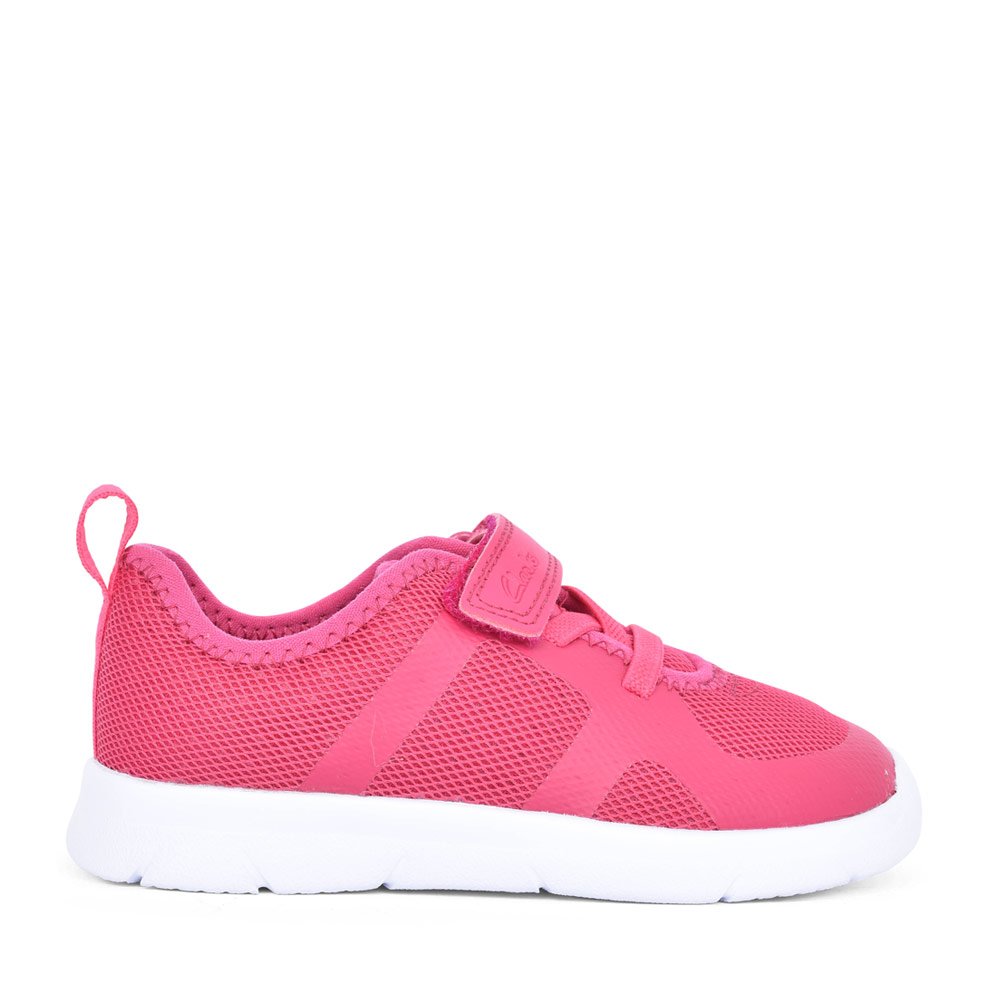 GIRLS ATH FLUX RASPBERRY TEXTILE VELCRO TRAINER in KIDS F FIT