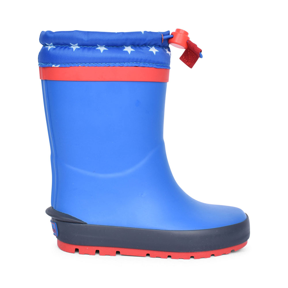 BOYS MUDDER RACE BLUE SYNTHETIC WELLY BOOT in KIDS G FIT