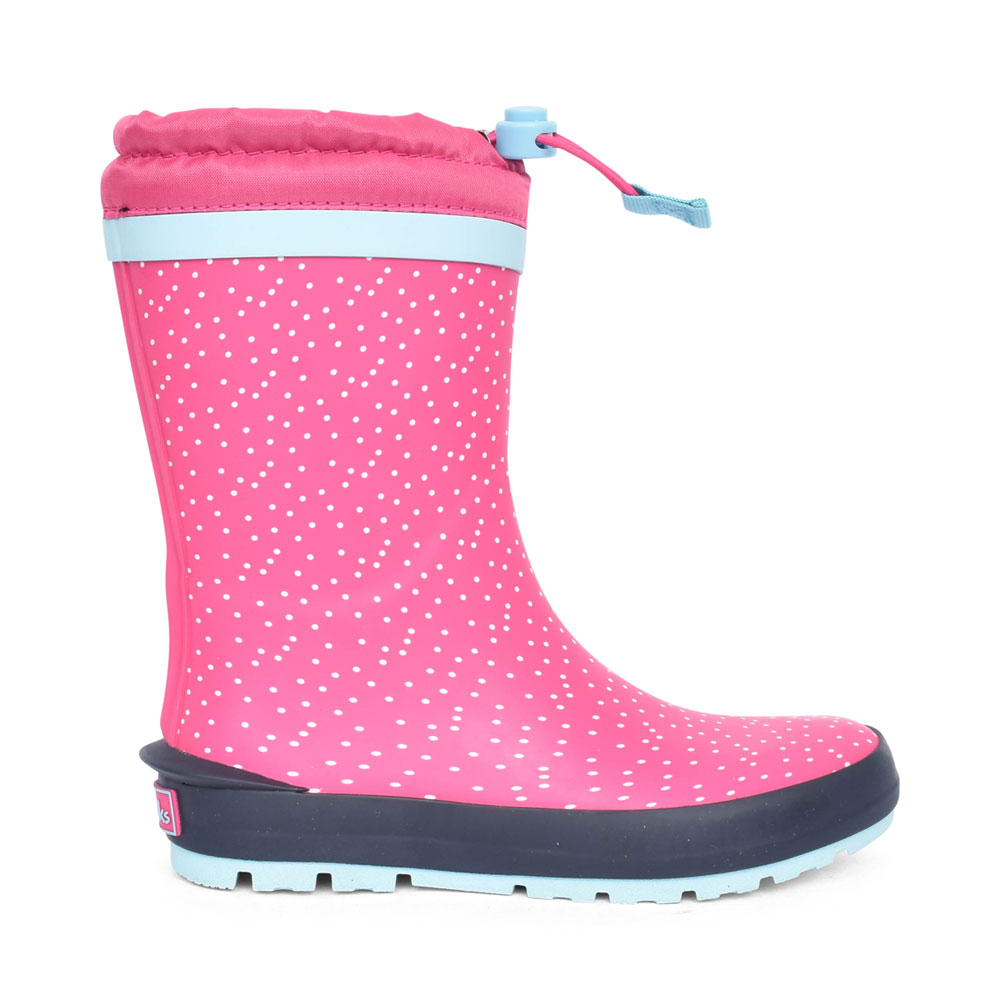 GIRLS MUDDER RACE PINK SYNTHETIC WELLY BOOT in KIDS G FIT
