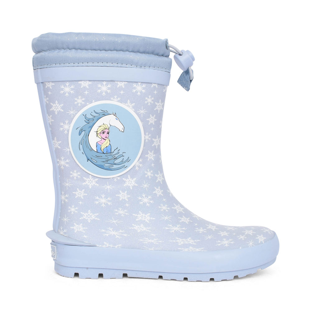 GIRLS MUDDER FROST LIGHT BLUE SYNTHETIC WELLY BOOT in KIDS G FIT