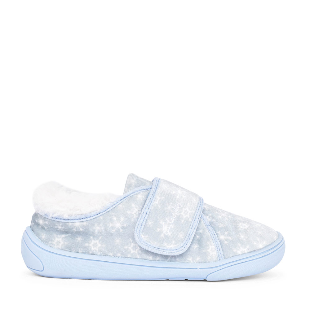 GIRLS HOLMLY ICE LIGHT BLUE TEXTILE VELCRO SLIPPER in KIDS G FIT