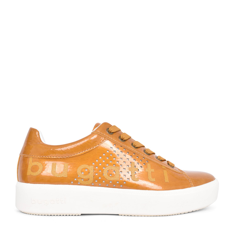 LADIES 40719 LACED TRAINER in YELLOW