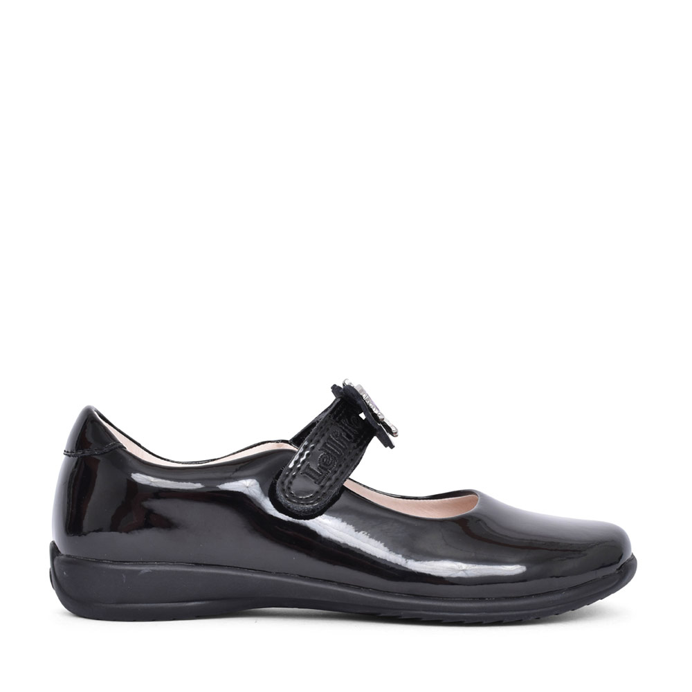 GIRLS LK8213 BLOSSOM F FIT VELCRO MARY JANE in BLK PATENT